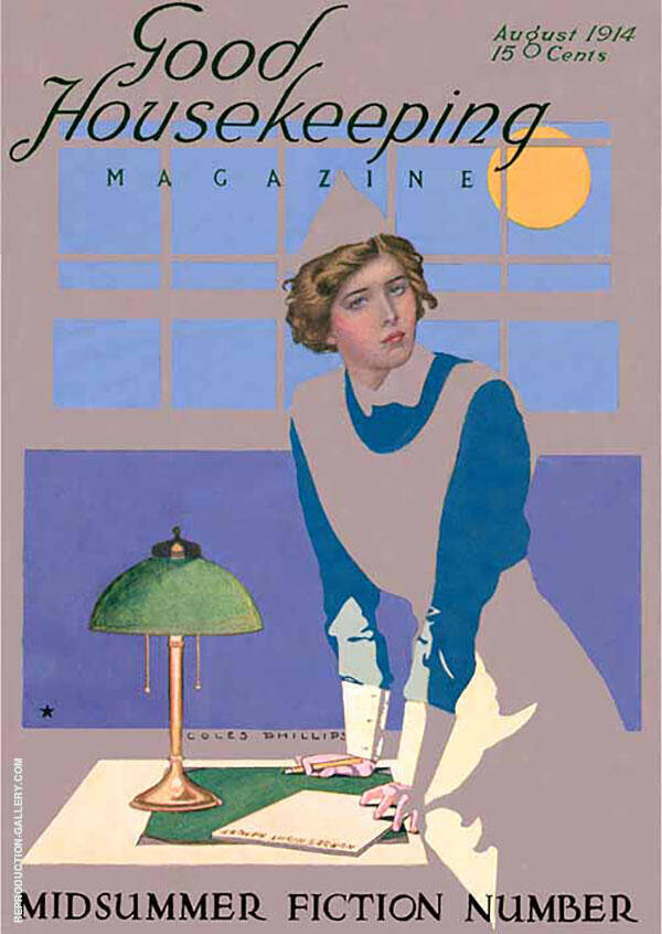 Good Housekeeping 1914 Painting By Coles Phillips - Reproduction Gallery
