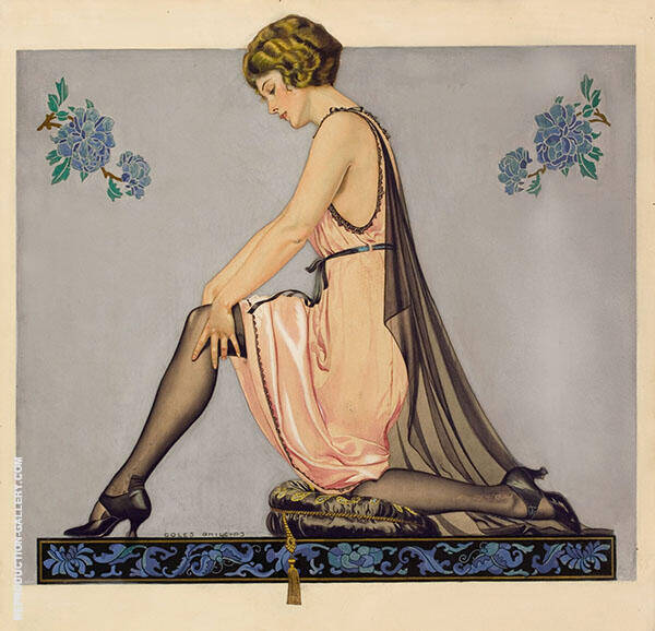 Holeproof-Hosiery-Company-Ad Painting By Coles Phillips