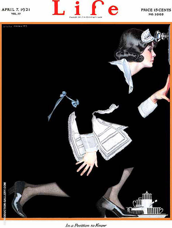 In A Position to Know 1921 Painting By Coles Phillips