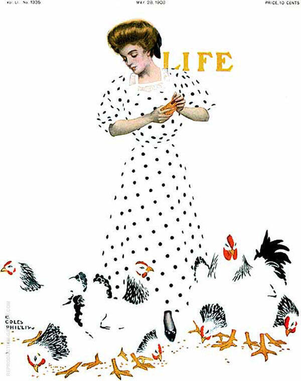 Life 1908 Painting By Coles Phillips - Reproduction Gallery