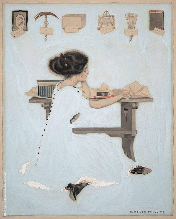 Life Magazine 1910 Painting By Coles Phillips - Reproduction Gallery