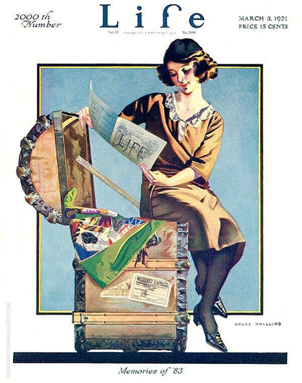 Memories of '83 Painting By Coles Phillips - Reproduction Gallery