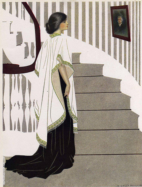 Portrait of Elsie 1912 Painting By Coles Phillips - Reproduction Gallery
