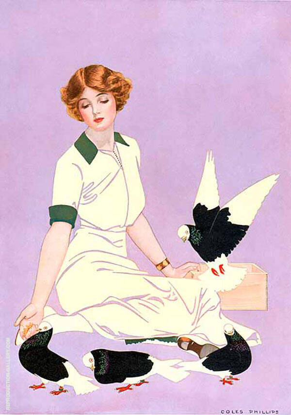 Print Based on Good Housekeeping Cover 1913 II Painting By Coles Phillips