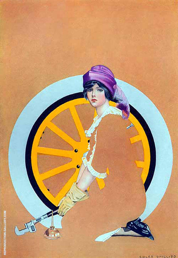 Print Based on Good Housekeeping Cover 1913 III Painting By Coles Phillips