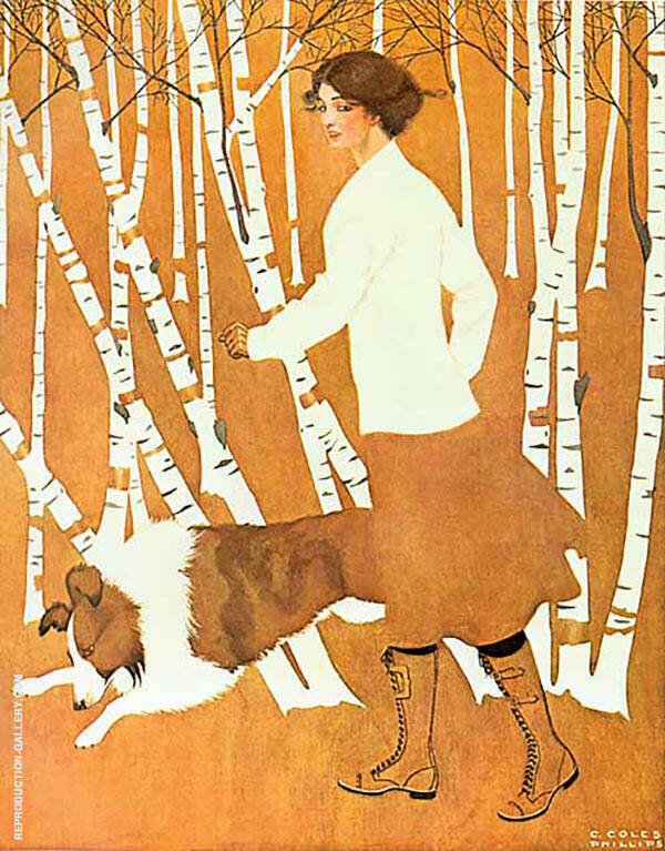 Print Based on Life Cover 1911 Painting By Coles Phillips