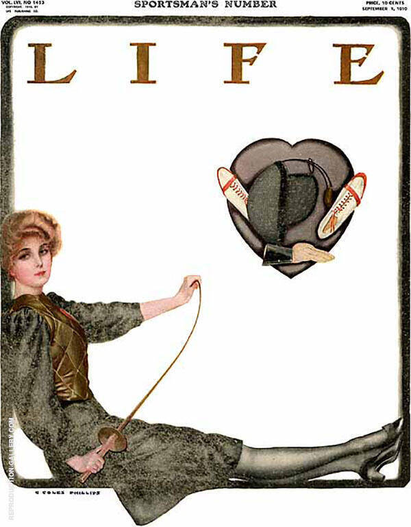 Sportman's Number 1910 Painting By Coles Phillips - Reproduction Gallery
