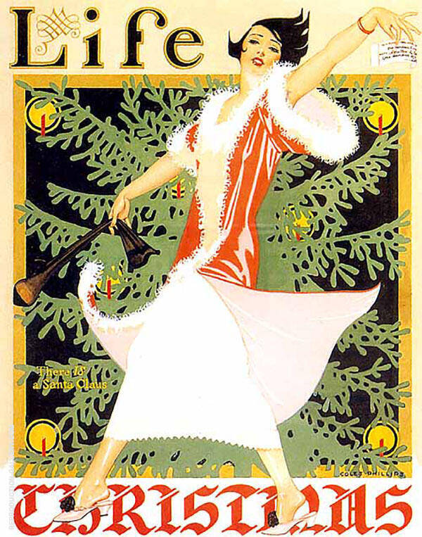 There is a Santa Claus 1926 Painting By Coles Phillips
