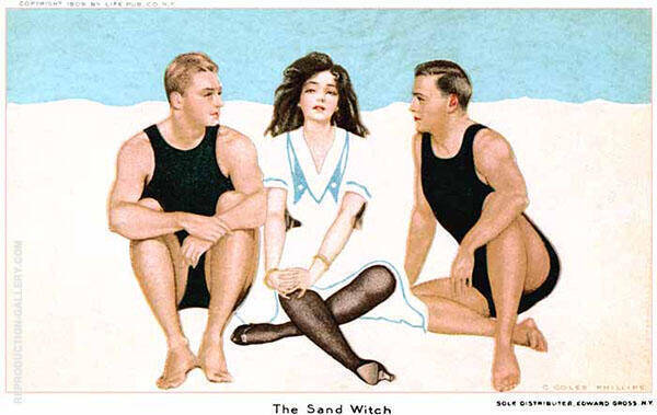 The Sand  witch 1909 Painting By Coles Phillips - Reproduction Gallery