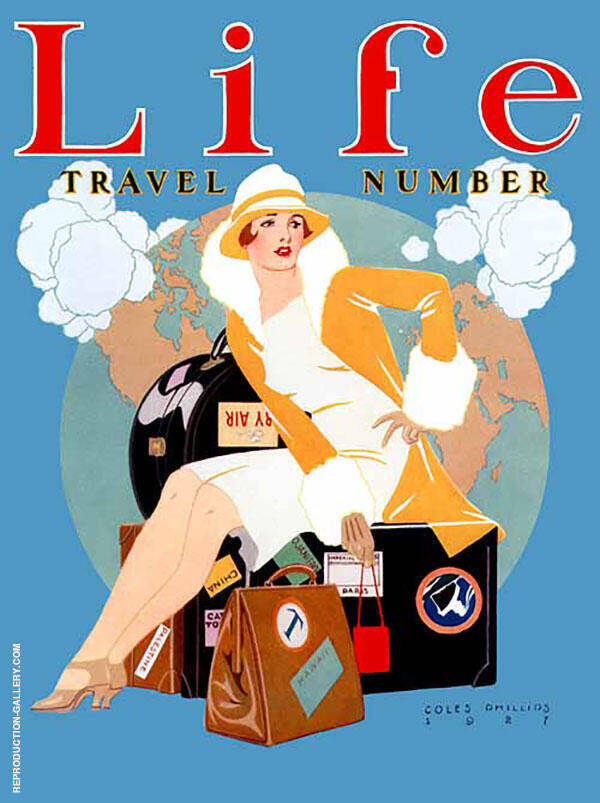 Travel Number 1927 Painting By Coles Phillips - Reproduction Gallery