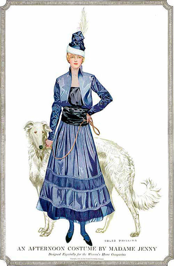 Woman's Home Companion An Afternoon Costume 1915 By Coles Phillips