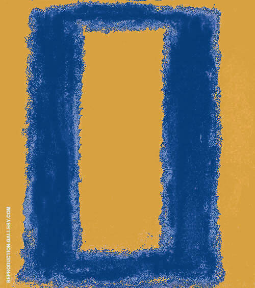 Blue with Yellow Rectangle (Reverso) by Mark Rothko (Inspired By)   Oil Painting Reproduction Replica On Canvas - Reproduction Gallery