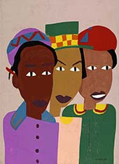 Three Friends c1944 By William H Johnson