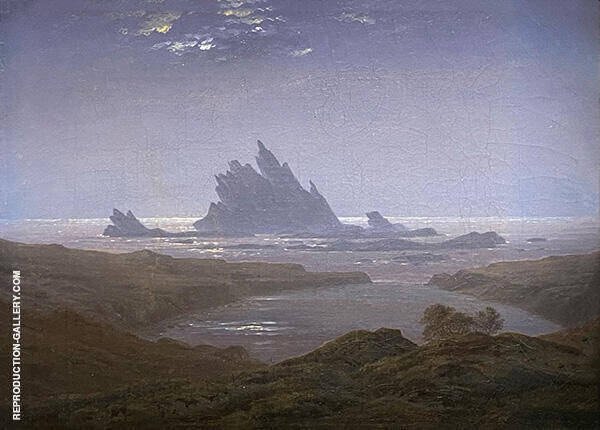 Rocky Reef on Seashore c1925 By Caspar David Friedrich