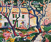 House Behind the Trees c1906 By Georges Braque