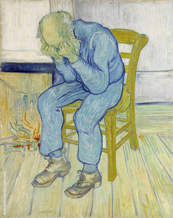 Sorrowing old man (At Eternity's Gate) Painting By Vincent van Gogh