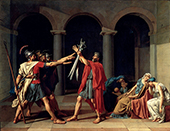 Oath of the Horatii 1784 By Jacques-Louis David