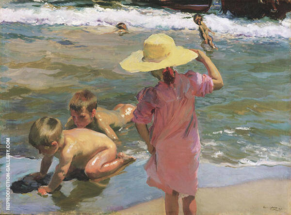 The Young Amphibians 1902 by Joaquin Sorolla   Oil Painting Reproduction Replica On Canvas - Reproduction Gallery