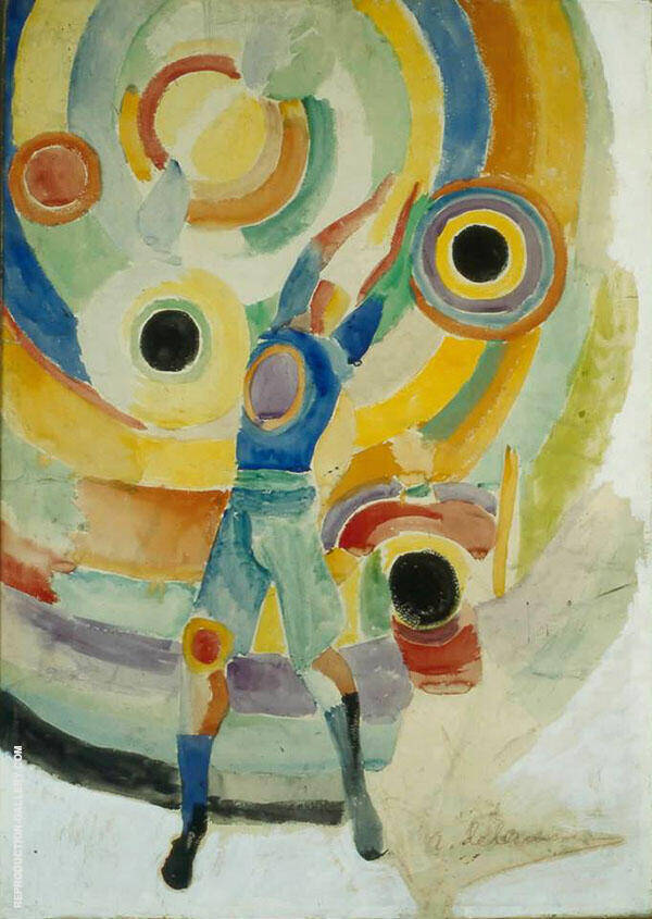 Football 1918 By Robert Delaunay