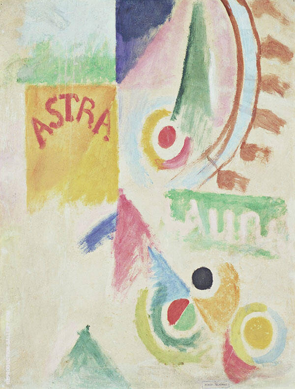 Football L'Equipe de Cardiff 1916 Painting By Robert Delaunay
