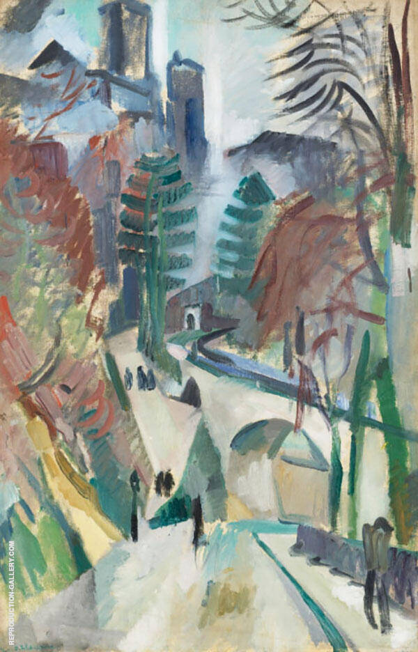 Laon Landscape Painting By Robert Delaunay - Reproduction Gallery
