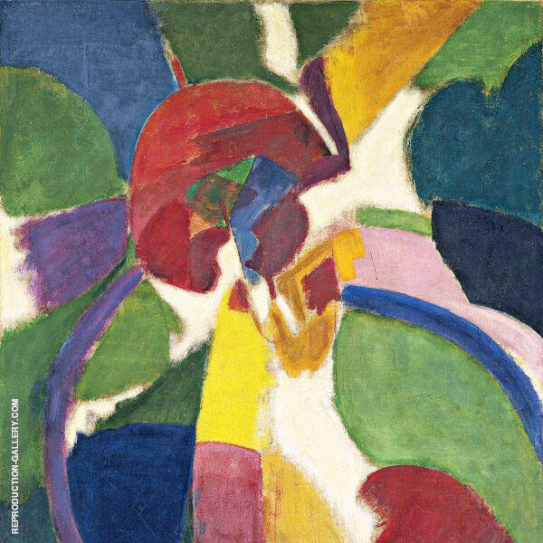 Large Portuguese Woman Painting By Robert Delaunay - Reproduction Gallery