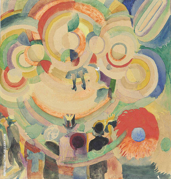 Pigs Carousel Painting By Robert Delaunay - Reproduction Gallery