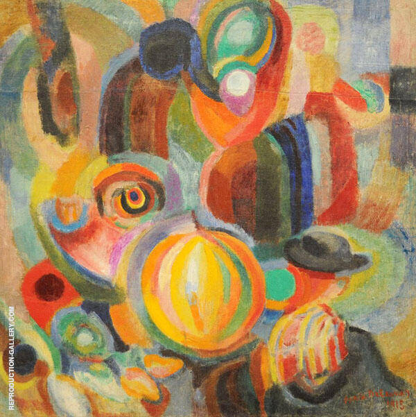 Portuguese Market 1915 Painting By Robert Delaunay - Reproduction Gallery