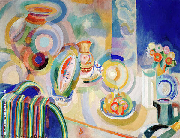 Portuguese Still Life 1916 Painting By Robert Delaunay