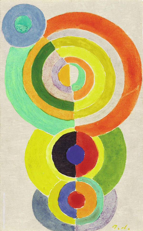 Rhythm 1934 I Painting By Robert Delaunay - Reproduction Gallery