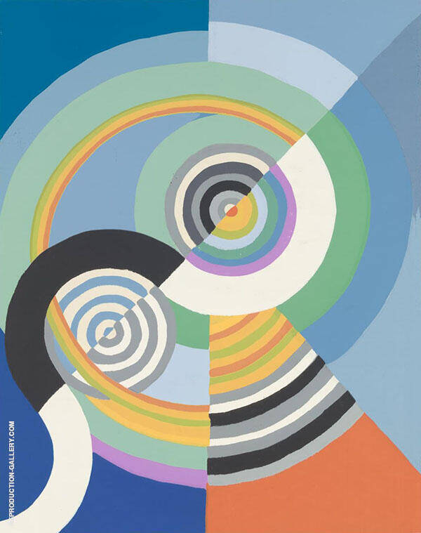 Rhythm No 3 II Painting By Robert Delaunay - Reproduction Gallery