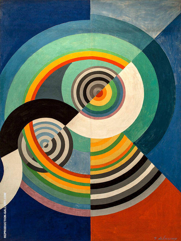 Rythme No 3 Painting By Robert Delaunay - Reproduction Gallery