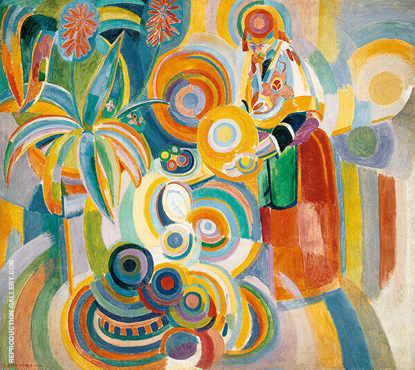 The Large Portuguese Woman Painting By Robert Delaunay