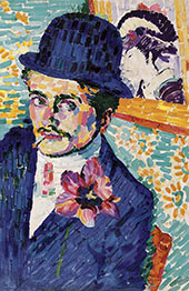 The Man with The Tulip Portrait of Jean Metzinger By Robert Delaunay