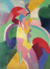 Woman with an Umbrella or La Parisienne By Robert Delaunay