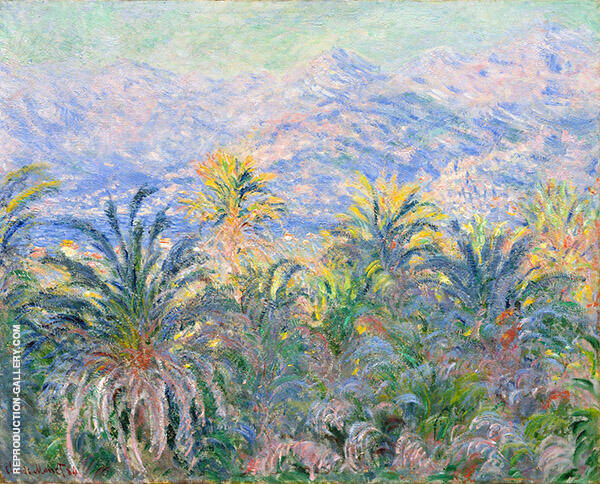 Palm Trees Bordighera 1884 by Claude Monet | Oil Painting Reproduction Replica On Canvas - Reproduction Gallery