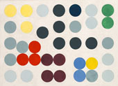 Composition with Circles 1934 By Sophie Taeuber-Arp