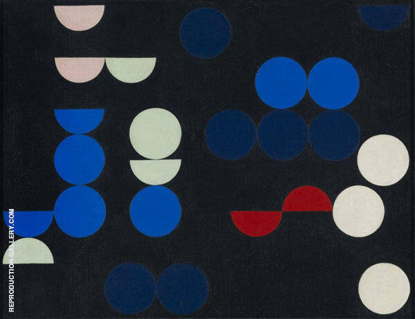 Composition with Circles and Semi Circles 1935 By Sophe Taeuber-Arp