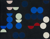 Composition with Circles and Semi Circles 1935 By Sophie Taeuber-Arp