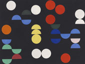 Composition with Circles and Semi Circles By Sophe Taeuber-Arp