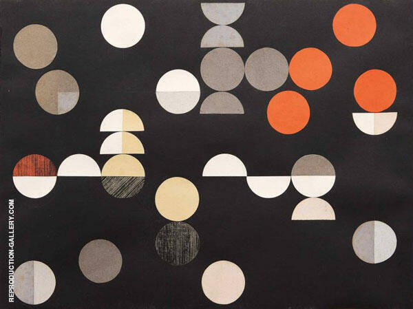 Composition with Circles and Semi Circles 1938 By Sophe Taeuber-Arp
