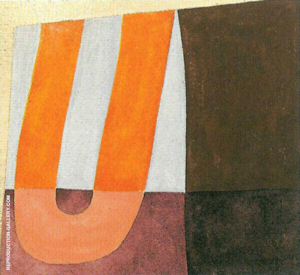 Composition with U Form 1918 By Sophe Taeuber-Arp