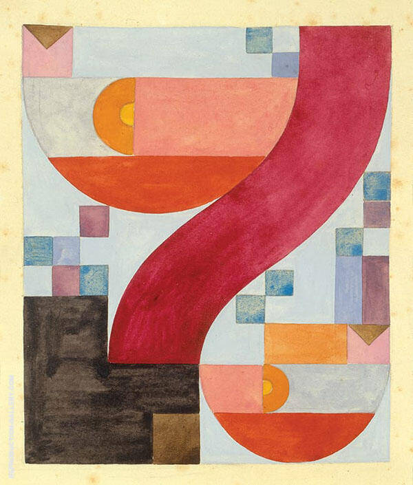Diverse Elements 1918 By Sophe Taeuber-Arp