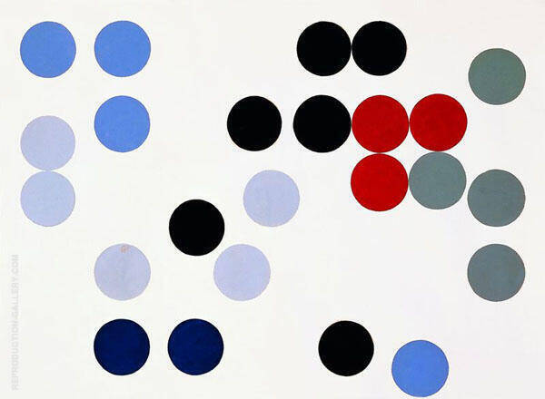 Dynamic Circles 1934 By Sophe Taeuber-Arp