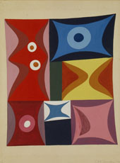 Elementary Forms in a Vertical Horizontal Composition 1934 By Sophe Taeuber-Arp