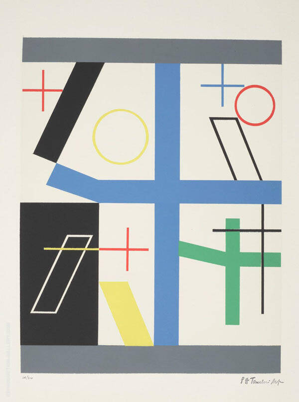 Four Broken Cross Spaces 1932 By Sophe Taeuber-Arp