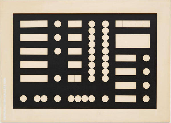 Schematic Composition By Sophe Taeuber-Arp
