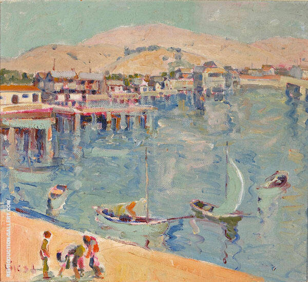 Beach Lagoon 1936 By Selden Connor Gile