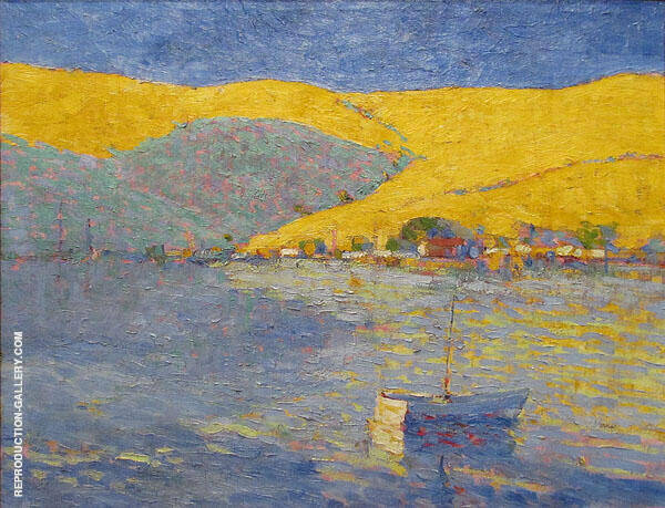 Boats and Yellow Hills By Selden Connor Gile