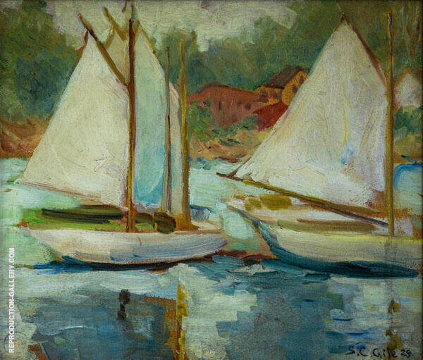 Boats Scene By Selden Connor Gile